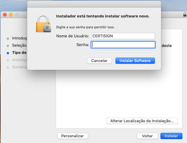 Instalação Remote ID MAC
